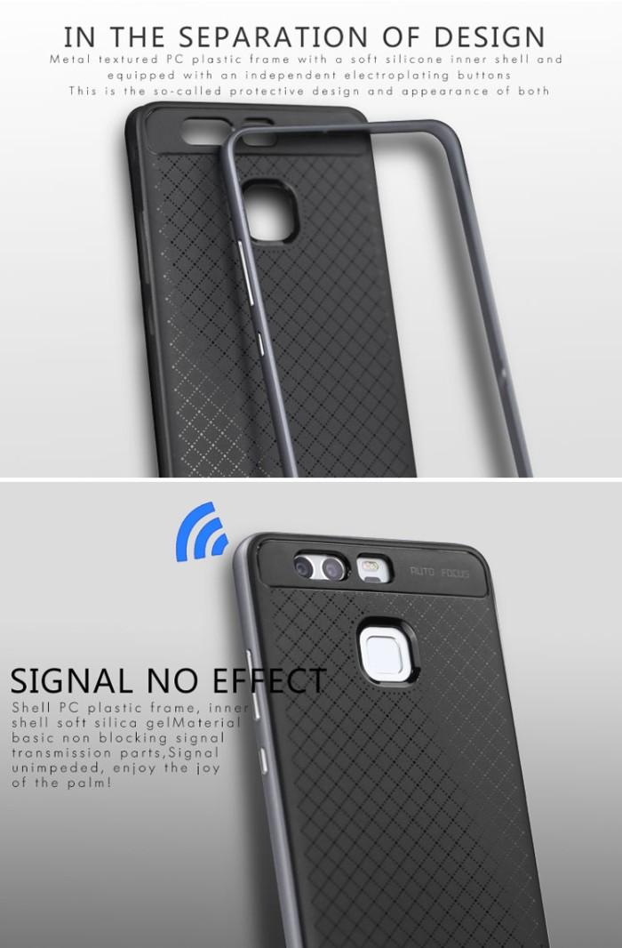 harga 100% original case ipaky huawei p9 soft carbon + bumper frame hard Tokopedia.com