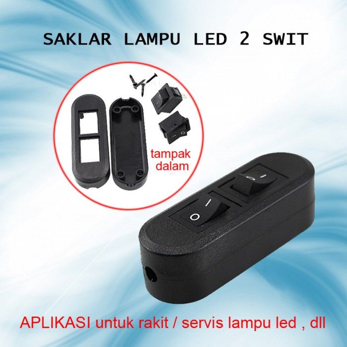 Stupendous Jual Saklar Lampu Led 2 Switch On Off Max 6A 6 Ampere 2 In 1 Wiring Cloud Hisonuggs Outletorg