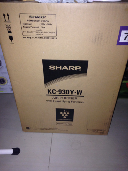 sharp air purifier ION plasmacluster kc-930y-w