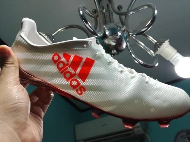 adidas 99 gram. sepatu bola / soccer adidas adizero f50 99 gram white solar red - fg