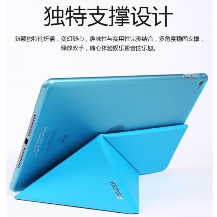 Remax Transformer Series Leather Case for iPad Air 2 - Black - Hitam