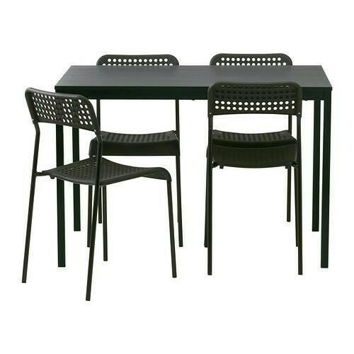 Ikea Set Meja Makan Tarendo Adde Dan 4 Kursi