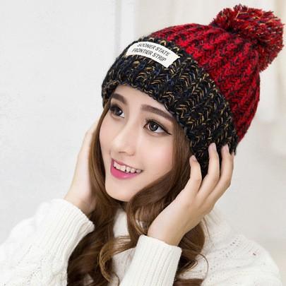 Jual Discount Topi Kupluk Rajut Wool Import POM untuk Winter ... d3b4466fb1