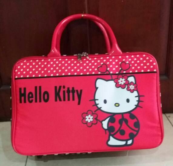 64f66ea02b0b Jual PROMO!! Travel bag tas travel koper kanvas hello kitty Murah ...