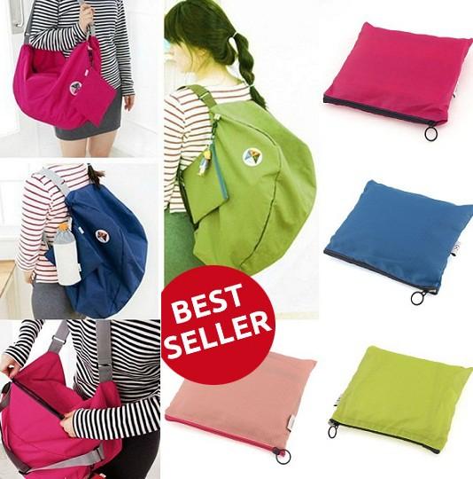 harga 3 way korean bag travel,tas serbaguna multifungsi,tas pinggang,ransel Tokopedia.com