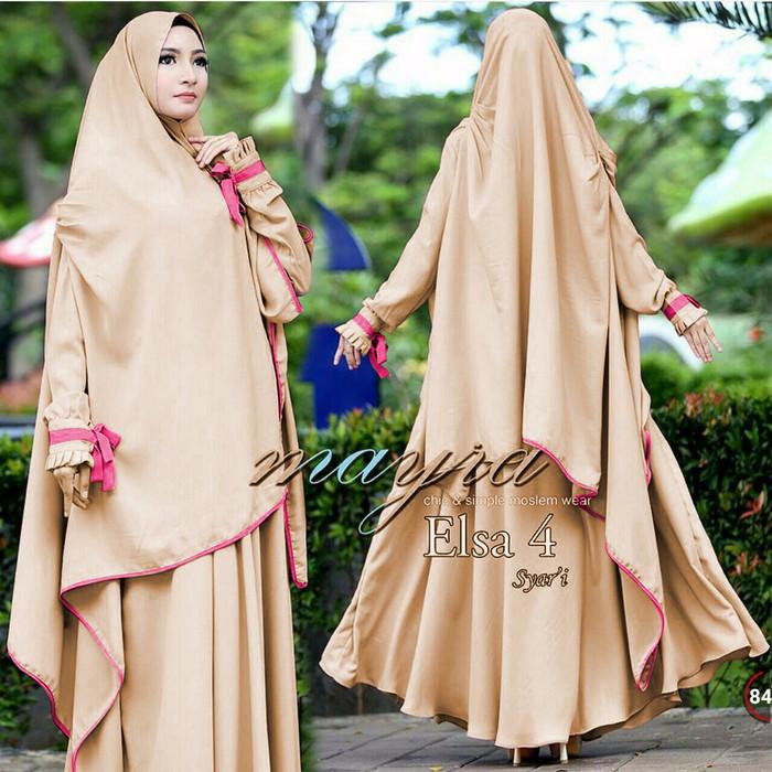 Jual Gamis Maxi Elsa Syari Baju Pesta Muslim Pakaian Hijab