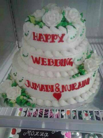 Jual Kue Tart Pernikahan 3 Tingkat Kota Bogor Jechentart Tokopedia