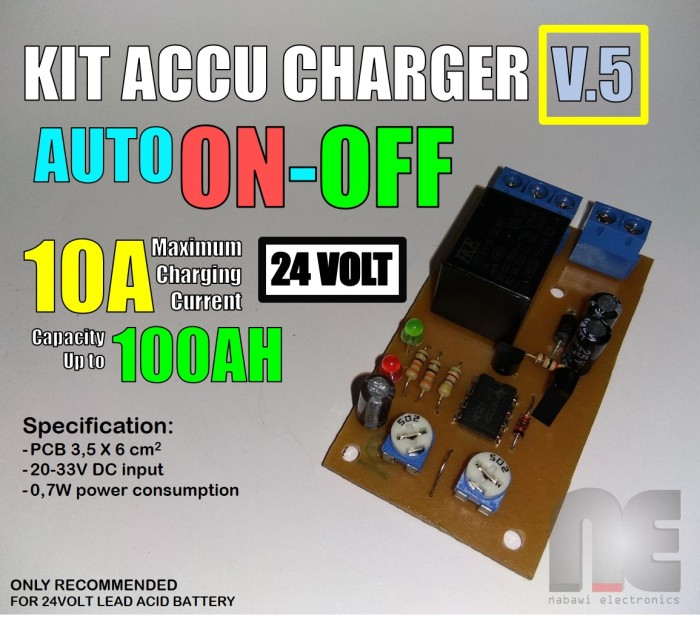 Jual Kit Charger Aki Accu 24v Otomatis On Off Nabawi Electronics