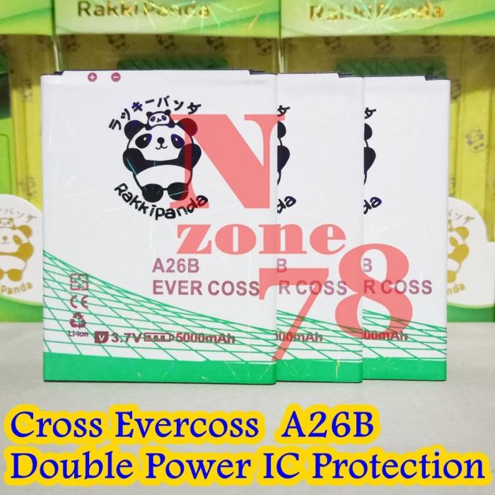 Baterai cross evercoss a26b mcom double power protection