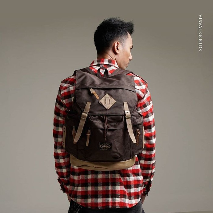Tas ransel backpack visval rave gendong laptop kuliah branded murah 134b0dc2fe