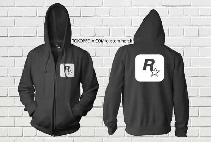 harga Sweater hoodie zipper rockstar energy drink custom Tokopedia.com