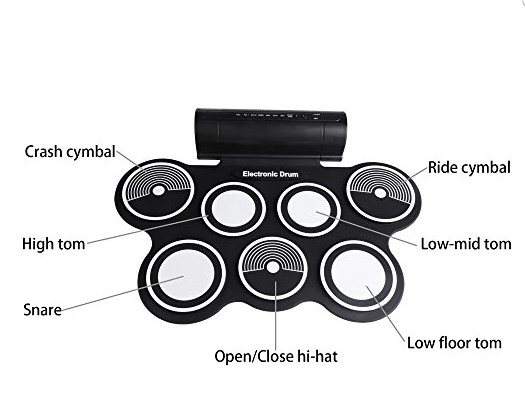 harga Portable roll up drum pad set kit with built-in speaker (with cd) Tokopedia.com