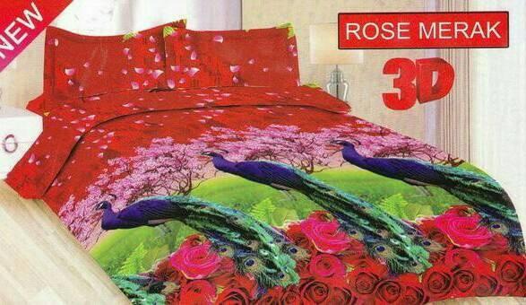 harga Bedcover Set King Size Bonita Motif Rose Merak Tokopedia.com