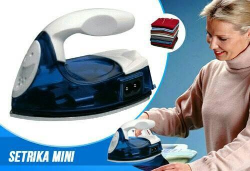 harga Setrika listrik mini iron travel baju strika laundry celana kaos sprei Tokopedia.com