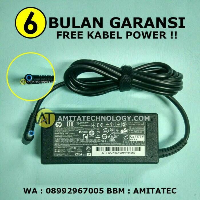 Adaptor charger original hp compaq 19.5v 3.33a 65w (pin / jarum)