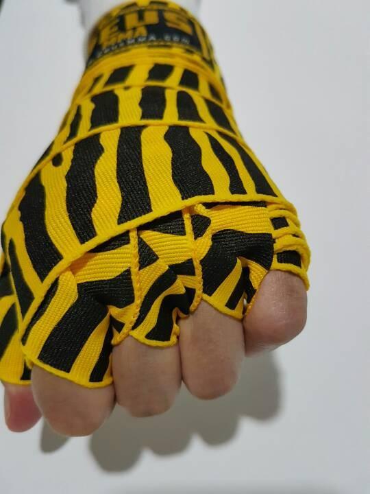 Foto Produk Handwrap boxing/muaythai zebra kuning dari Zeus MMA