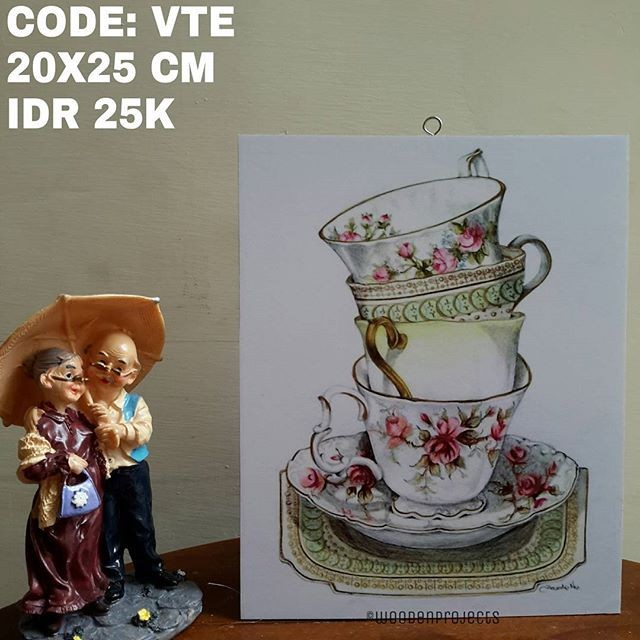 harga Walldecor poster shabby pajangan dinding vintage teacup - vte1 Tokopedia.com