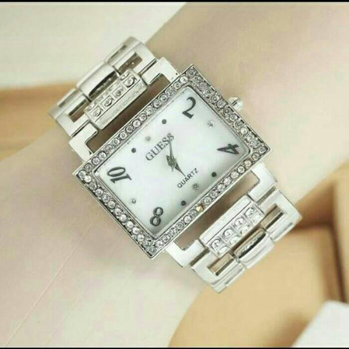 harga Guess silver gold hitam stainless watch jam tangan gelang wanita modis Tokopedia.com
