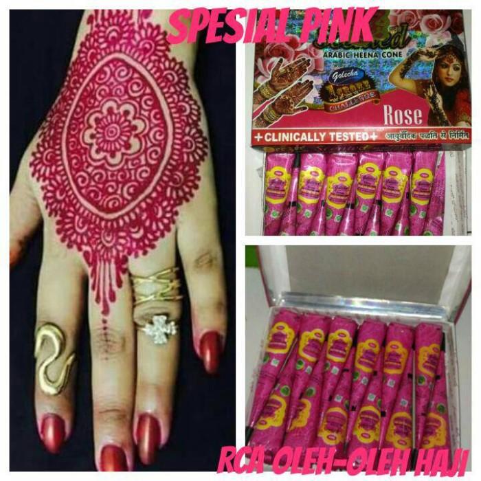 Jual Golecha Henna Cone Special Pink Rca Oleh Oleh Haji Tokopedia
