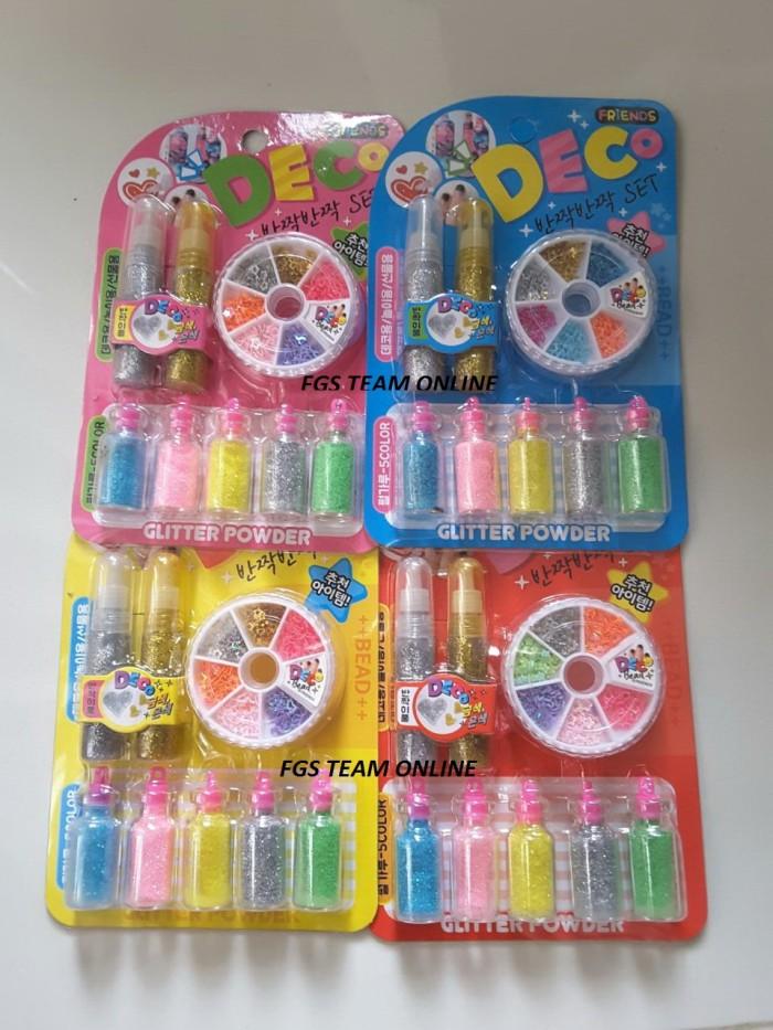 harga Mainan edukasi/edukatif anak deco glue glitter powder with accesories Tokopedia.com