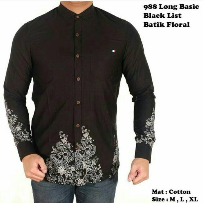 Batik Pria Casual: Jual Baju Kemeja Motif Batik Pria Lengan Panjang