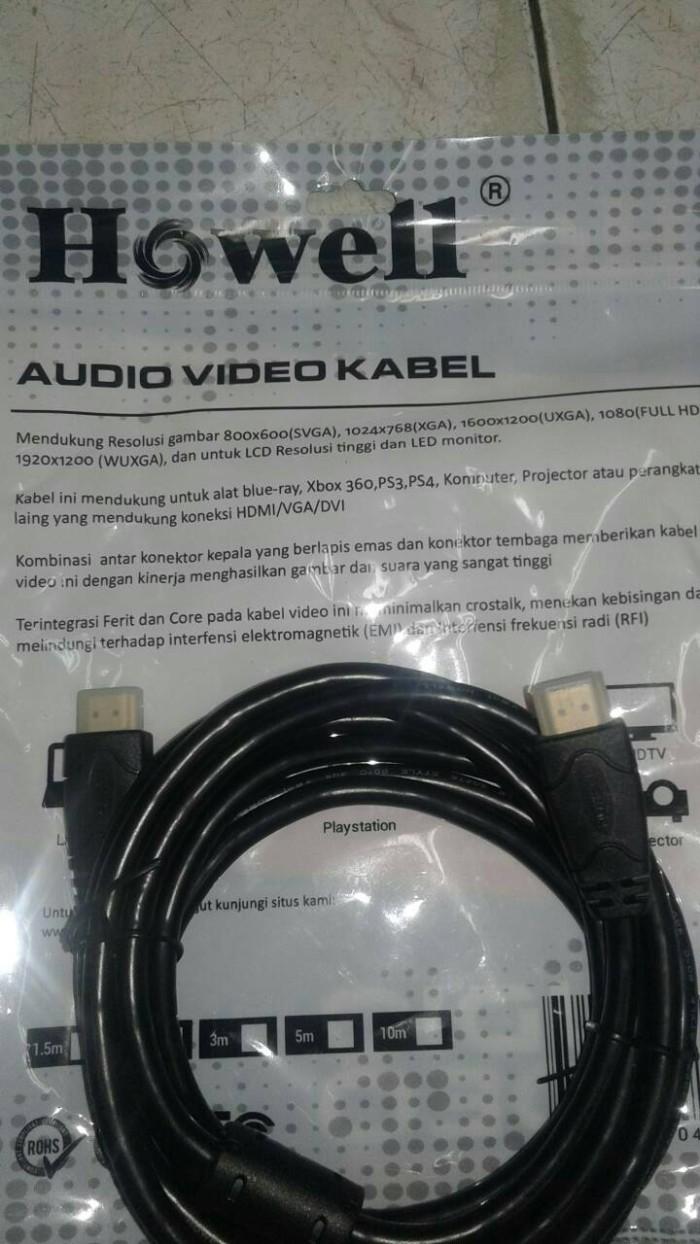 Jual Kabel Hadi To Hdmi 3 Meter Original Howel Upi Audio Tokopedia