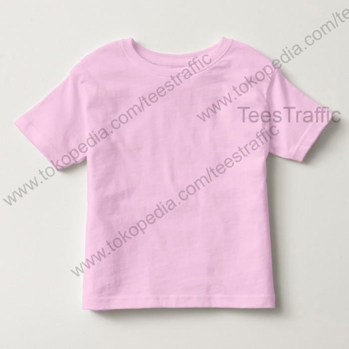 Kaos polos anak cotton combed 30s pink pp013 kaos oblong anak