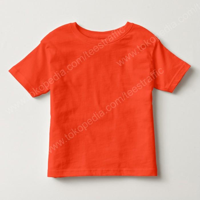 Kaos polos anak cotton combed 30s orange po014 kaos oblong anak