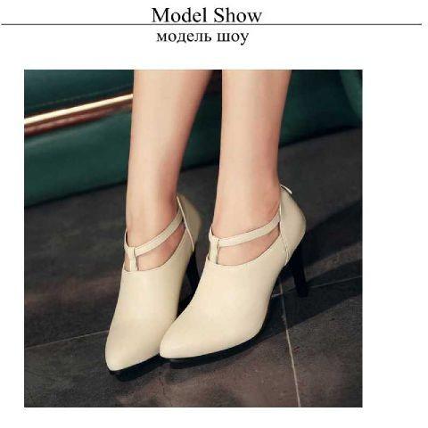 harga Sepatu sandal wanita / high heels boots pantopel cream Tokopedia.com