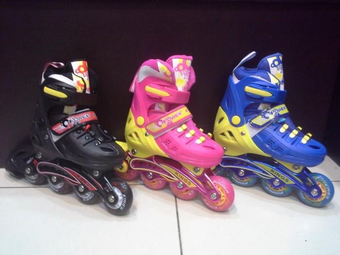 Jual Sepatu Roda POWER KING Inline Skate BAN FULL KARET Anak dan ... 21a854dbdf