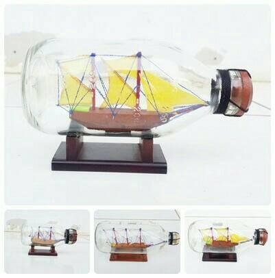 harga Ukuran 18 cm miniatur/cinderamata/hiasan antik kapal dalam botol murah Tokopedia.com