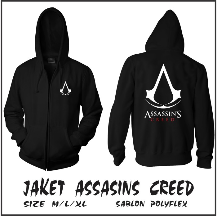 harga Jaket assassins creed hoodie Tokopedia.com