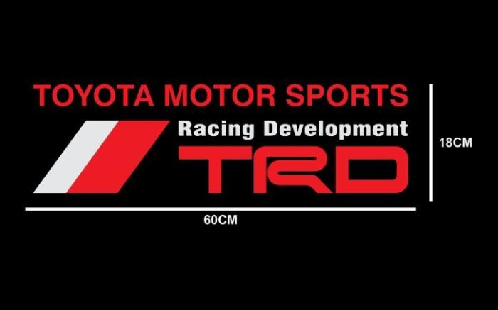 Cutting sticker kaca belakang mobil toyota motor sport trd racing 60cm