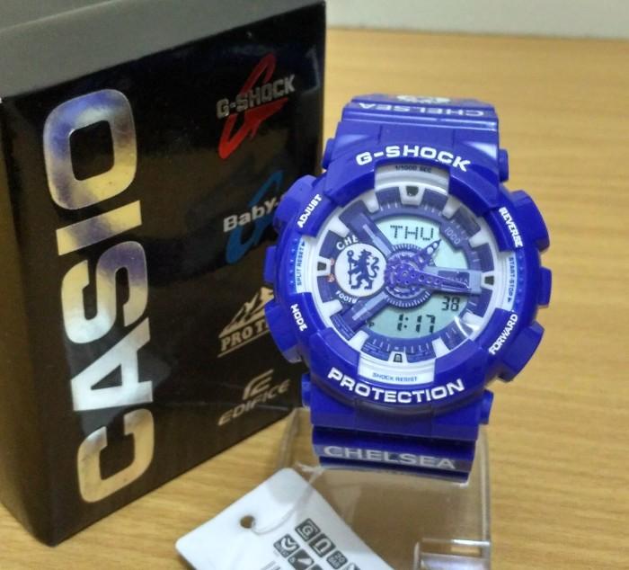 Jual Jam Tangan Pria   Cowok G-Shock Ga110 Chelsea FC - Bazar Tania ... 20001c6993