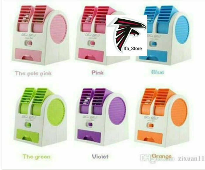 harga Mini fan ac portable double blower Tokopedia.com