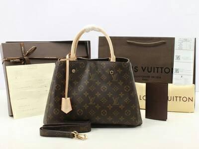 Jual Tas Louis Vuitton LV Montaigne MM Monogram M41056 - KULIT ASLI ... cefba55efc