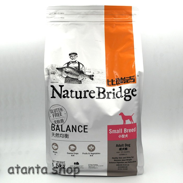 Foto Produk Nature Bridge Adult Dog Small Breed 1.5kg super premium++ Dog Food dari atanta Shop