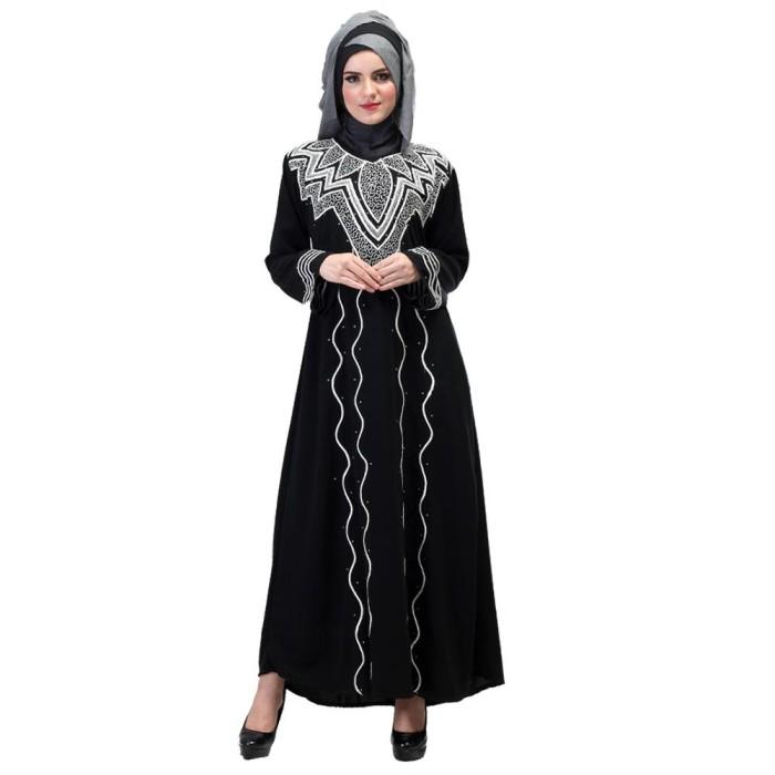 harga Baju gamis dress busana muslim wanita cewek warna hitam - shj 528 Tokopedia.com