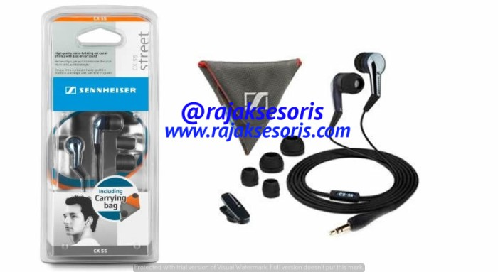 harga Sennheiser cx 55 precision bass earphones Tokopedia.com