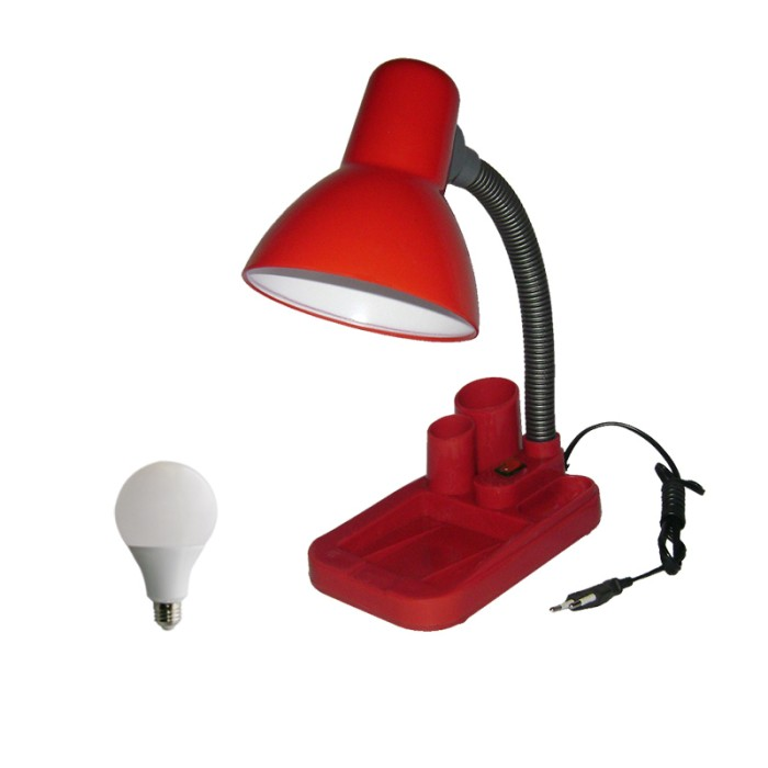 harga Eelic jm-8808s 5w merah lampu meja - baca - belajar switch + 5w led Tokopedia.com