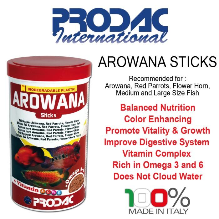 harga Prodac arowana sticks 450gr makanan ikan arwana fish food pet food Tokopedia.com