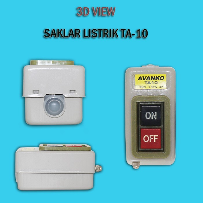 EELIC SAL-TA10 saklar listrik 380v 1,5KW 15A Power Pushbutton