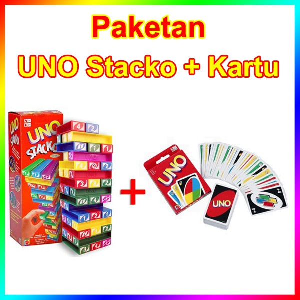 harga Paket uno stacko + kartu (card) uno (paketan lengkap promo murah) Tokopedia.com