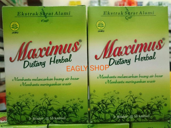 Foto Produk Maximus Dietary Herbal Supplement (penurun berat badan) 3x10 kaps dari COSTMART