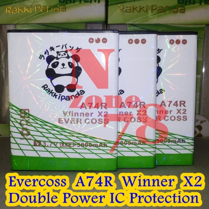Baterai Cross Evercoss Winner X2 A74r Double Power Protection