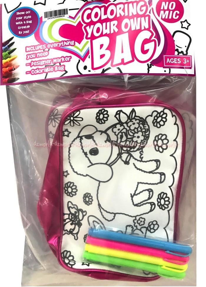 Jual Tas Mewarnai Tas Sendiri Coloring Your Own Bag Doggy Color Me