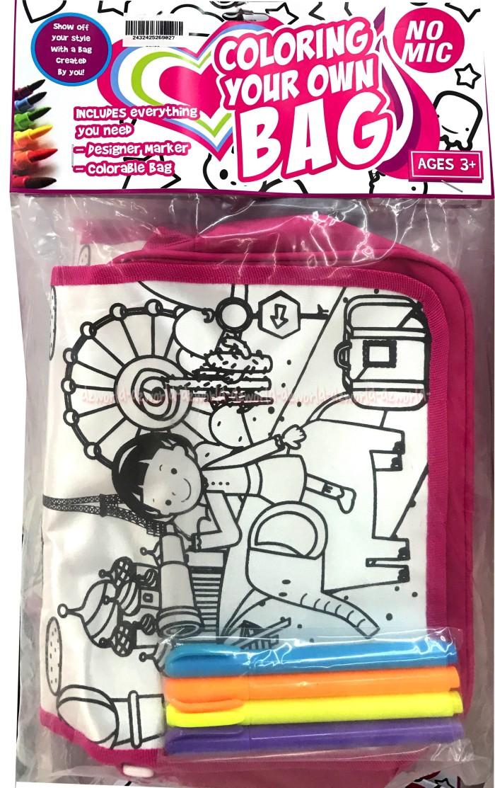 Jual Tas Mewarnai Tas Sendiri Coloring Your Own Bag Kincir Girls