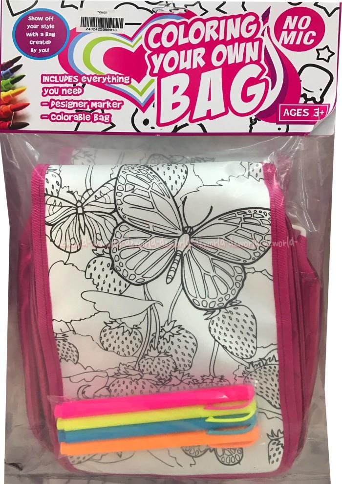 Jual Tas Mewarnai Tas Sendiri Coloring Your Own Bag Butterfly Color