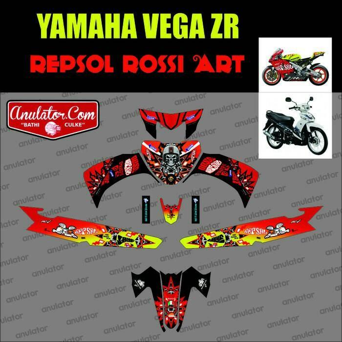 Jual Striping Yamaha Vega Zr Art Rossi Merah Filink Modifikasi