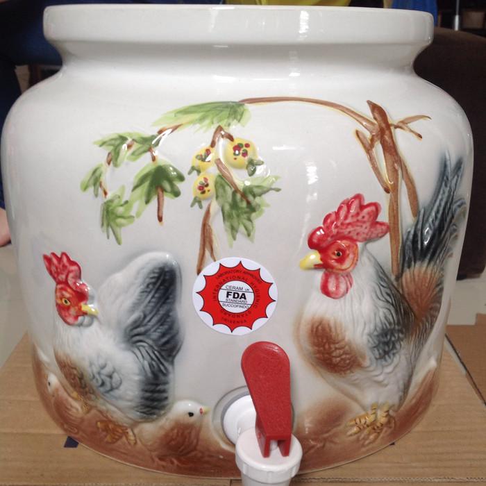harga Guci air/guci galon/guci keramik warna polos Tokopedia.com